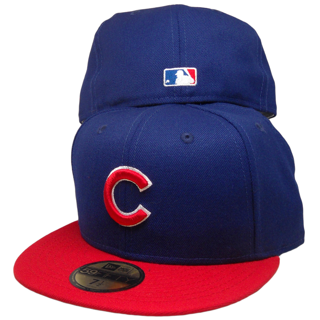3939d08b Chicago Cubs New Era Custom 59Fifty Fitted Hat - Dark Royal, Red, White -  ECapsUnlimited.com