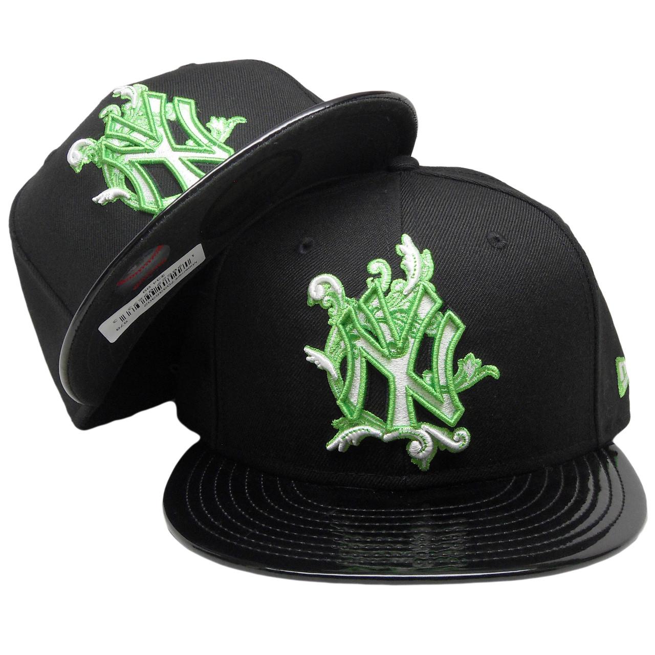 9288ea32 New York Yankees New Era Custom 59Fifty Fitted Hat - Black, Lime Green,  White