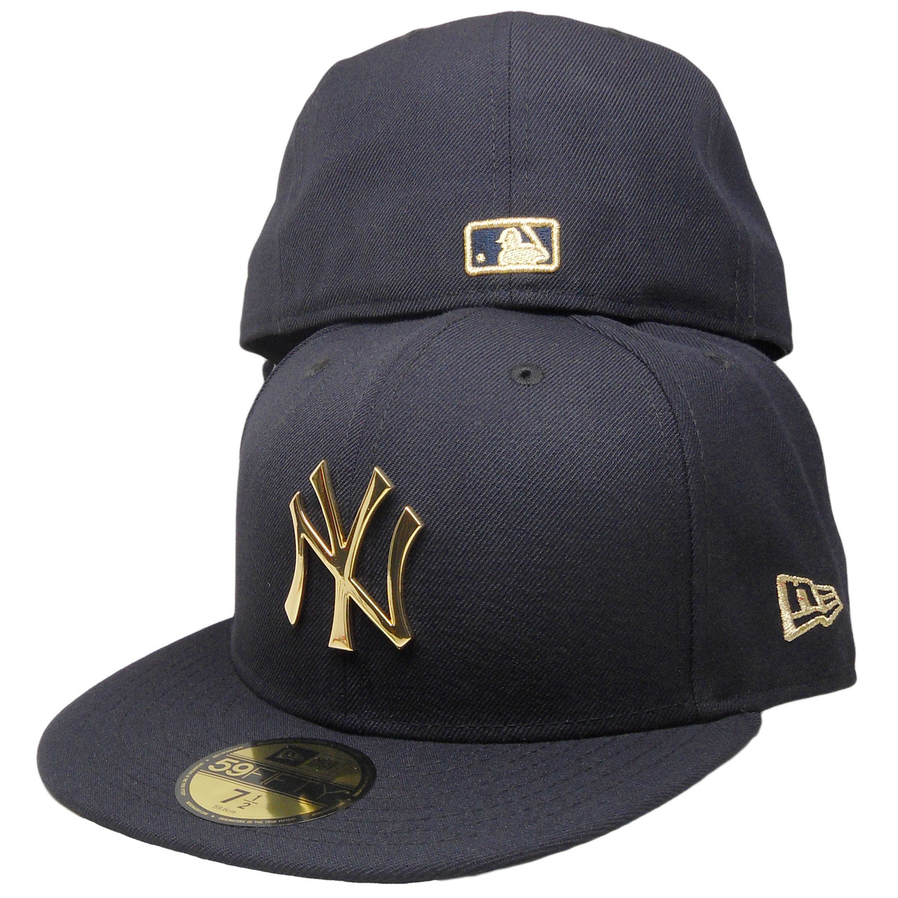 92047310c New York Yankees New Era Custom 59Fifty Fitted Hat - Navy, Gold ...