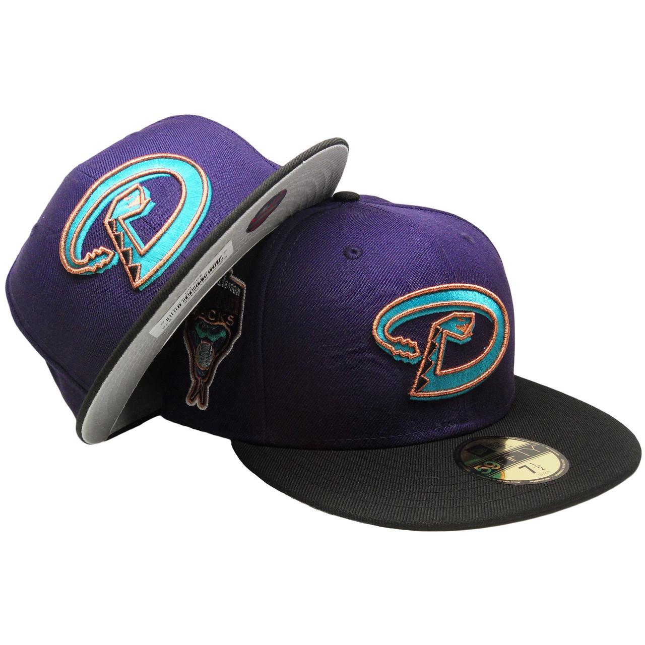 b67b6983 Arizona Diamondbacks Custom New Era Fitted - Purple, Black, Teal, Copper