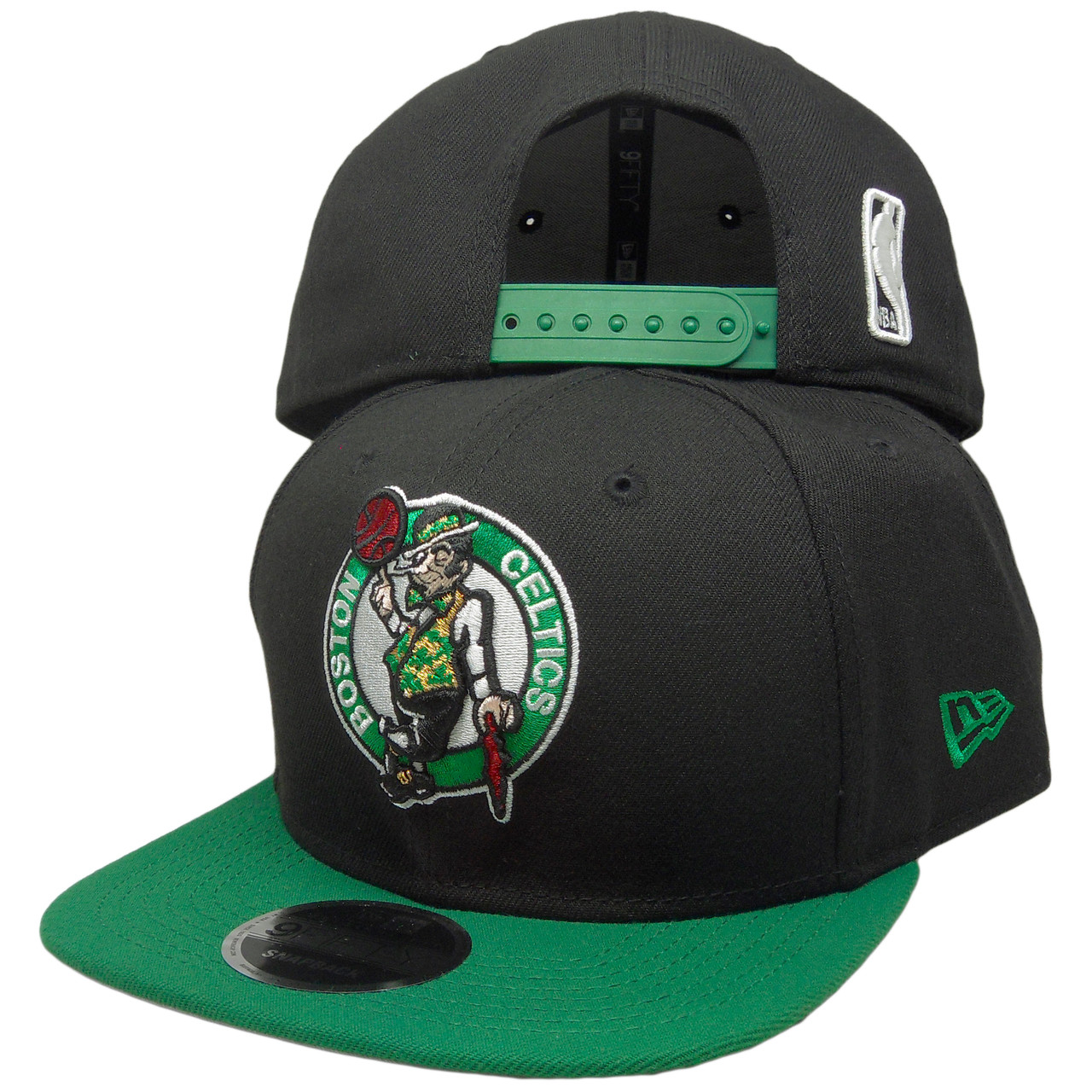 63dbdd04 Boston Celtics New Era Basic 2Tone 9Fifty Snapback - Black, Kelly, White -  ECapsUnlimited.com