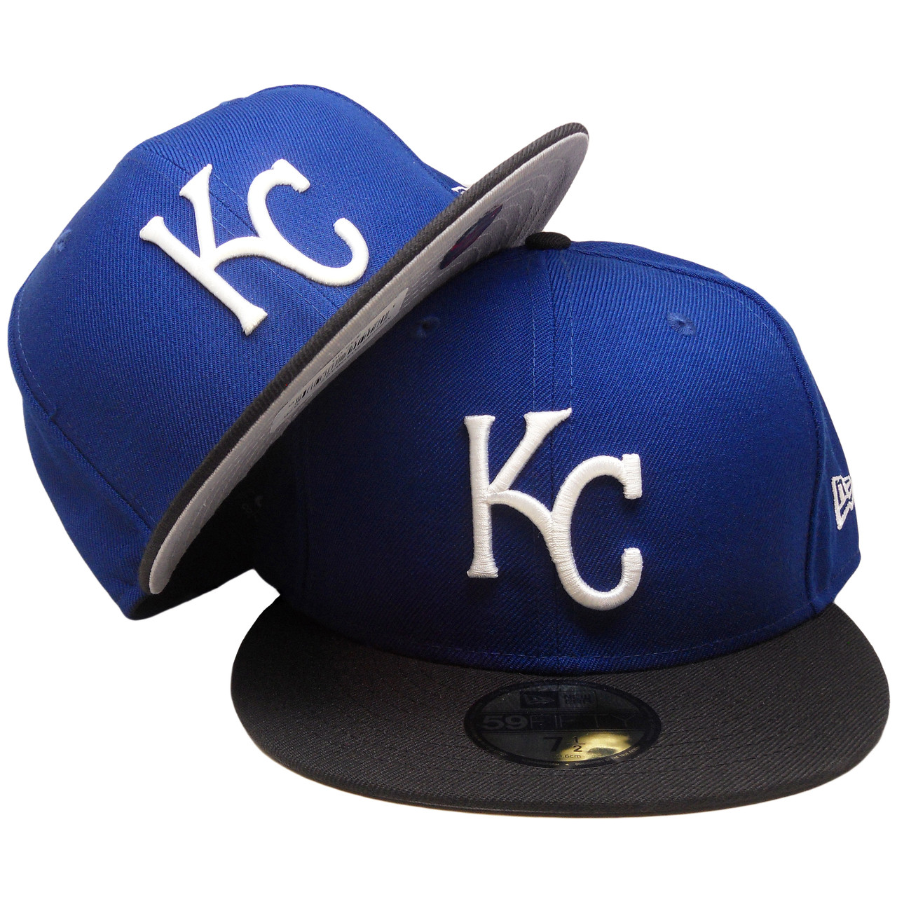 sale retailer b39c9 a7461 Kansas City Royals Custom New Era 59Fifty Fitted - Royal, Black, White -  ECapsUnlimited.com