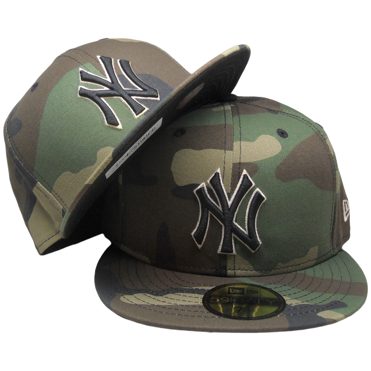 e88e3dd94096d4 New York Yankees New Era Custom 59Fifty Fitted Hat - Camouflage, Black,  Beige - ECapsUnlimited.com