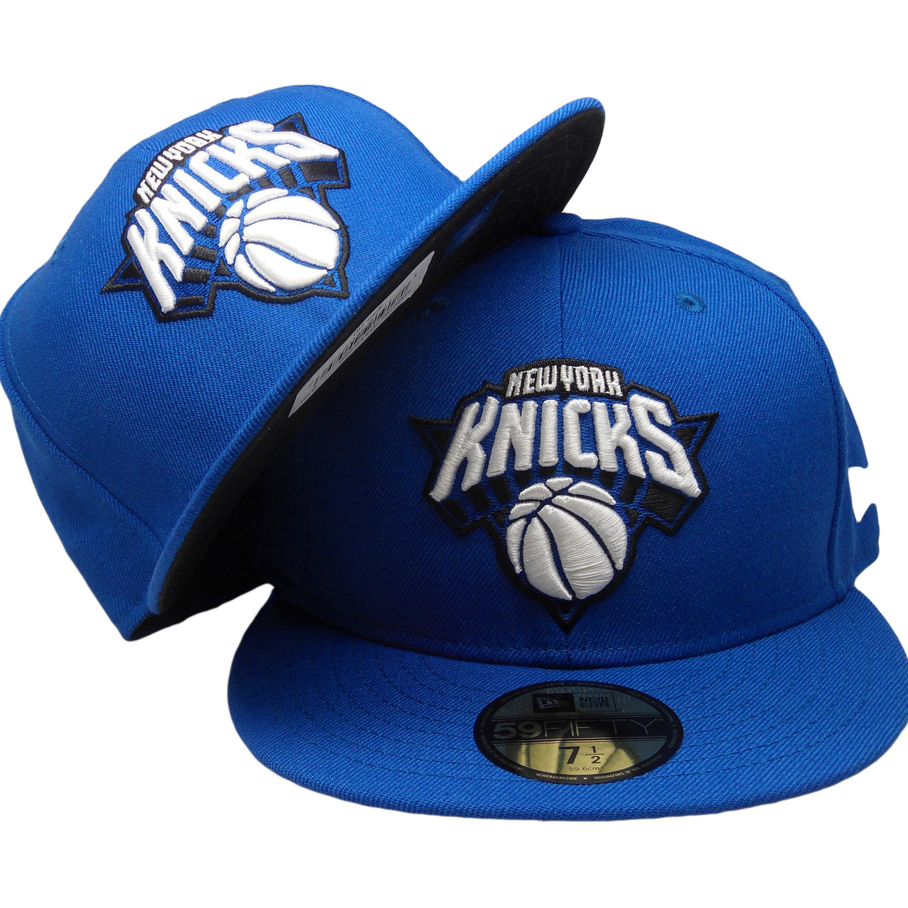 a6ae9b2bcab04 New York Knicks New Era Custom 59Fifty Fitted - Royal, White, Black -  ECapsUnlimited.com
