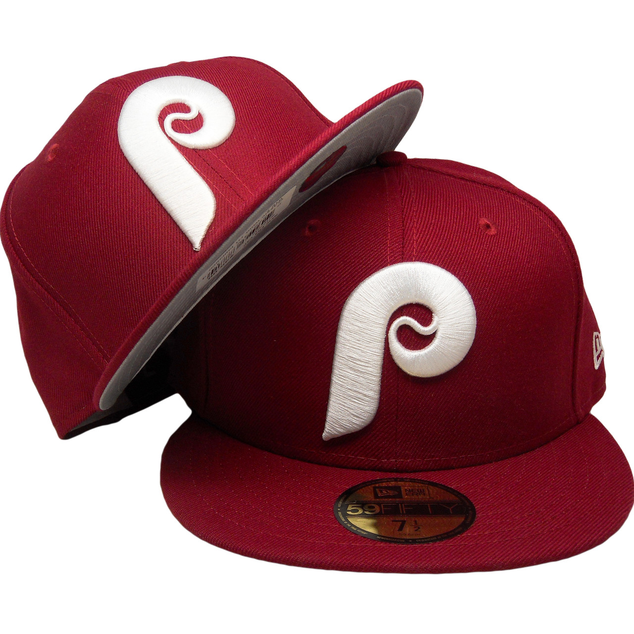 c5149cd6 Philadelphia Phillies New Era Classic Wool 59Fifty Fitted - Burgundy, White  - ECapsUnlimited.com
