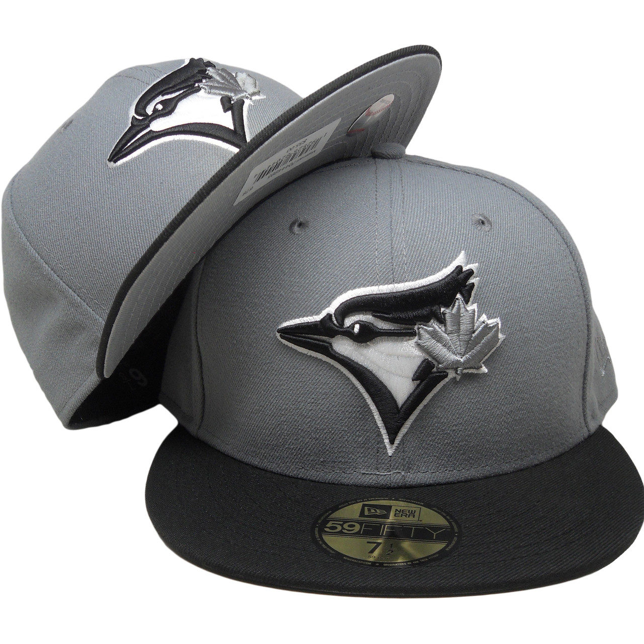 official photos f3686 5d8ea Toronto Blue Jays New Era Custom 59Fifty Fitted Hat - Storm Gray, Black,  White - ECapsUnlimited.com