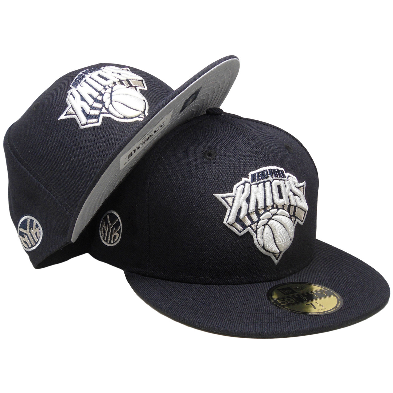 87f50cda New York Knicks New Era Custom Yankees Colorway 59Fifty Fitted - Navy,  White - ECapsUnlimited.com