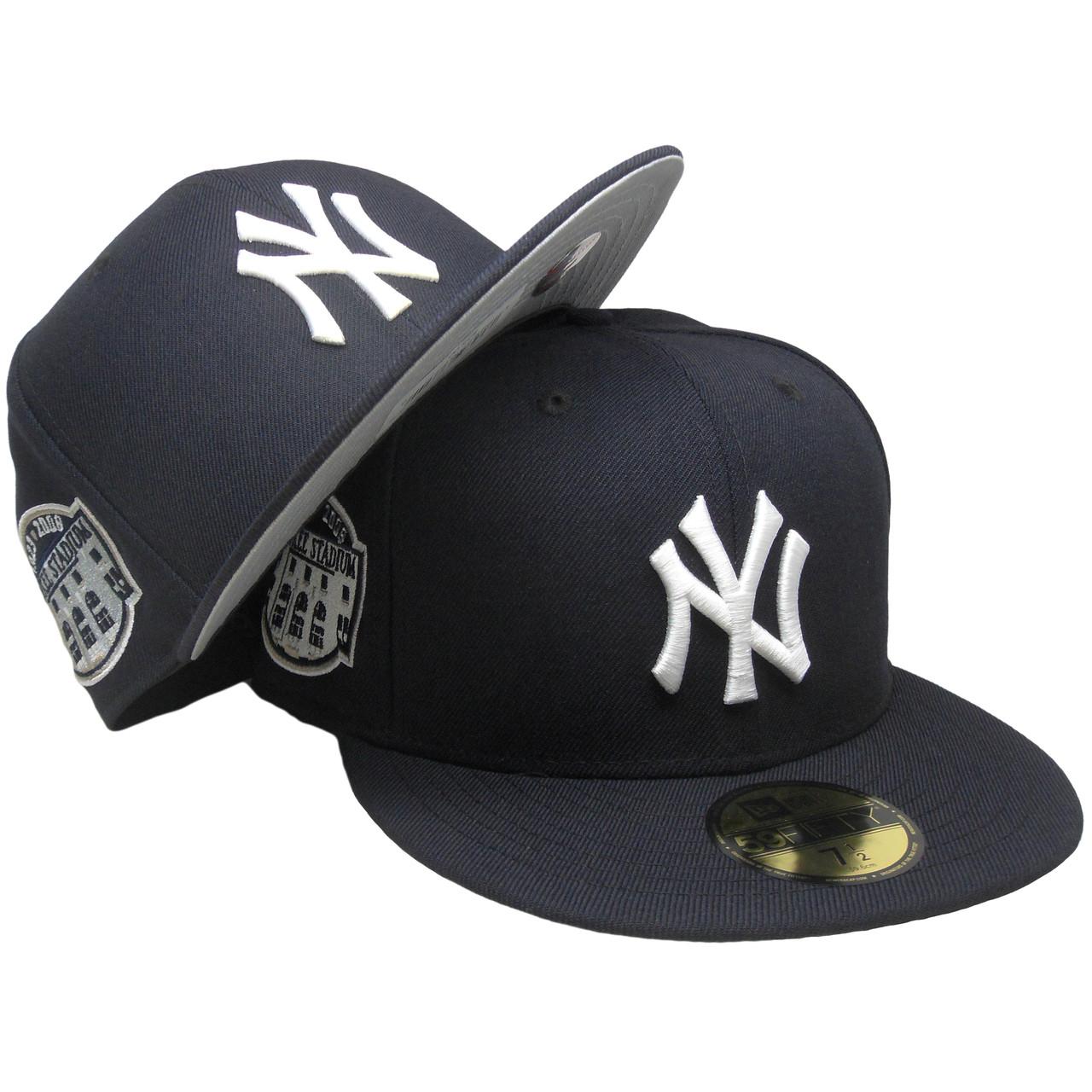b42ecee4df011d New York Yankees New Era Custom Stadium Patch Fitted - Navy, White, Gray