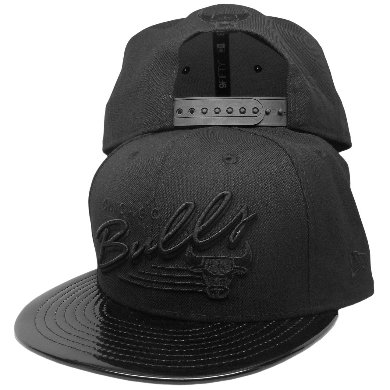 96d93040ec1077 Chicago Bulls New Era Custom 9Fifty Snapback Hat - Black, Black Patent  Leather - ECapsUnlimited.com
