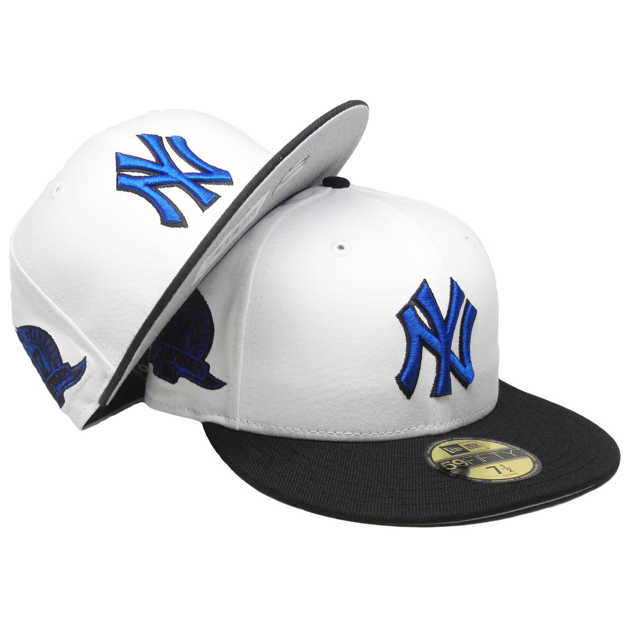 ce0c206d232 New York Yankees New Era Custom 59Fifty Fitted - White, Black, Royal -  ECapsUnlimited.com