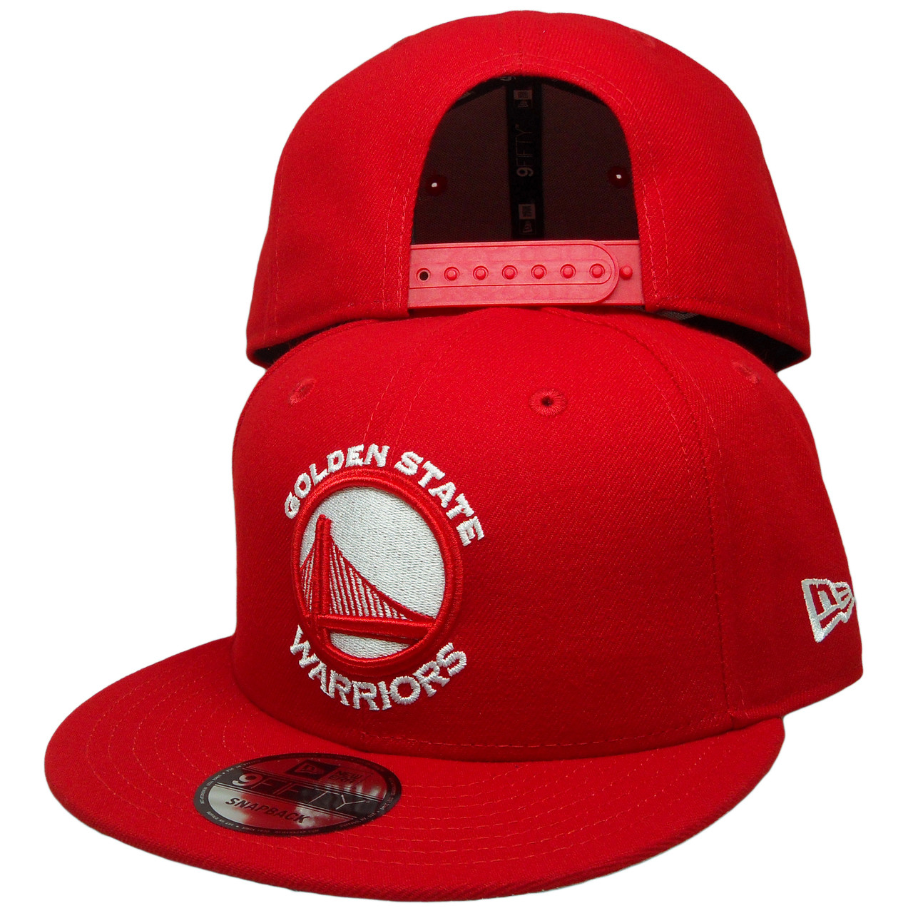 brand new 40f61 aa933 Golden State Warriors New Era Custom 9Fifty Snapback - Red, White -  ECapsUnlimited.com