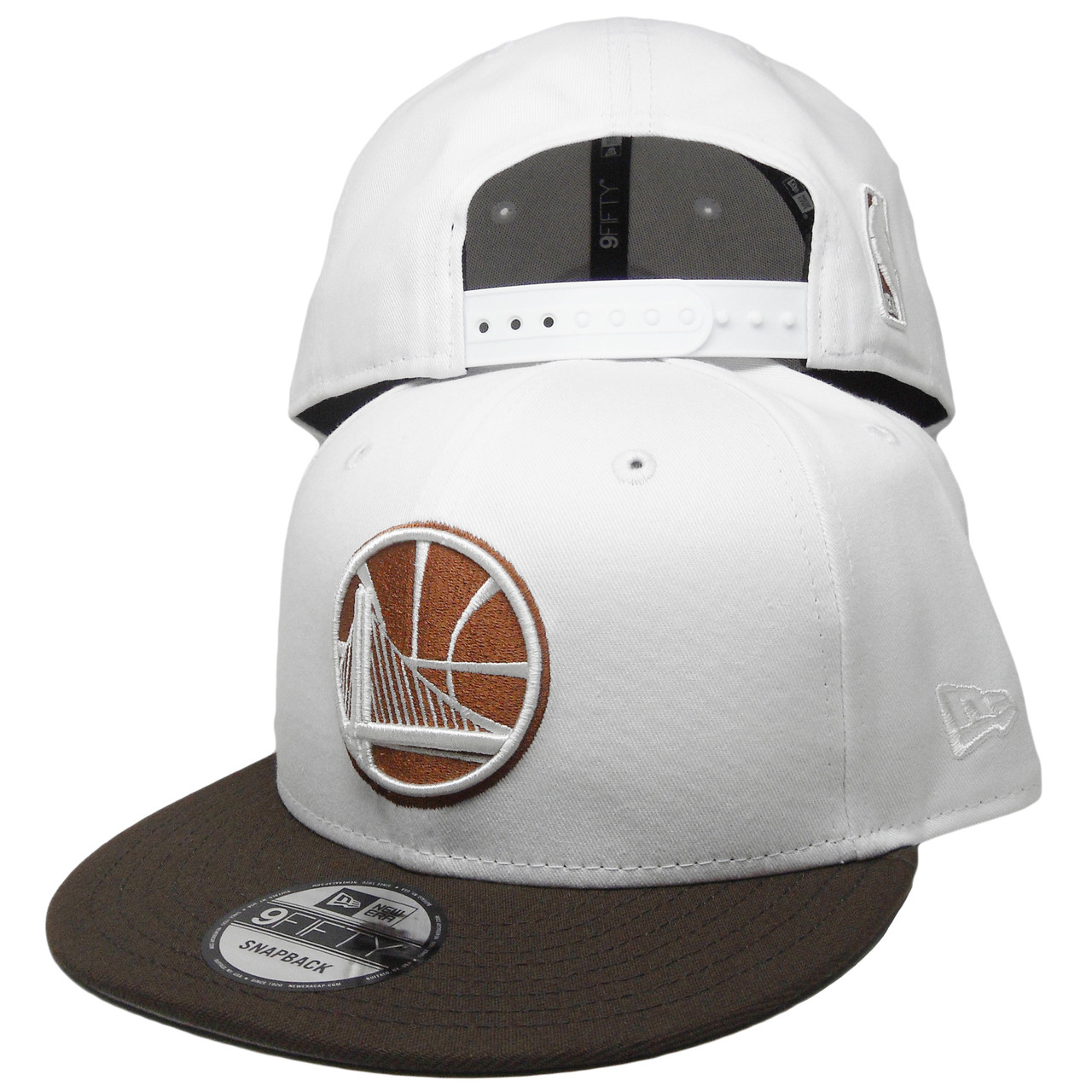 huge selection of f21da 1d551 Golden State Warriors New Era Custom 9Fifty Snapback Hat - White, Brown