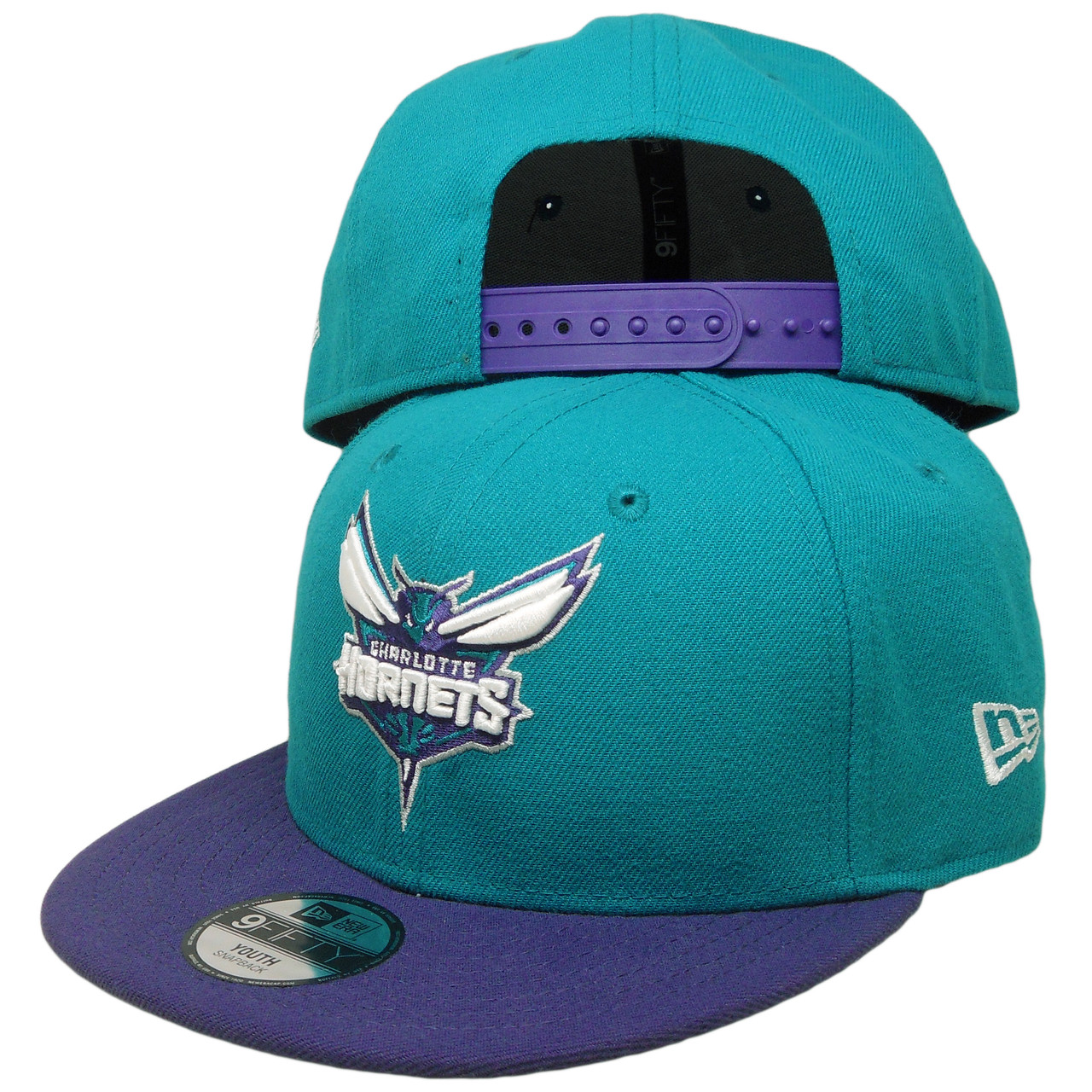 Charlotte Hornets Blue Neon Yellow New Era 59Fifty Fitted Hat