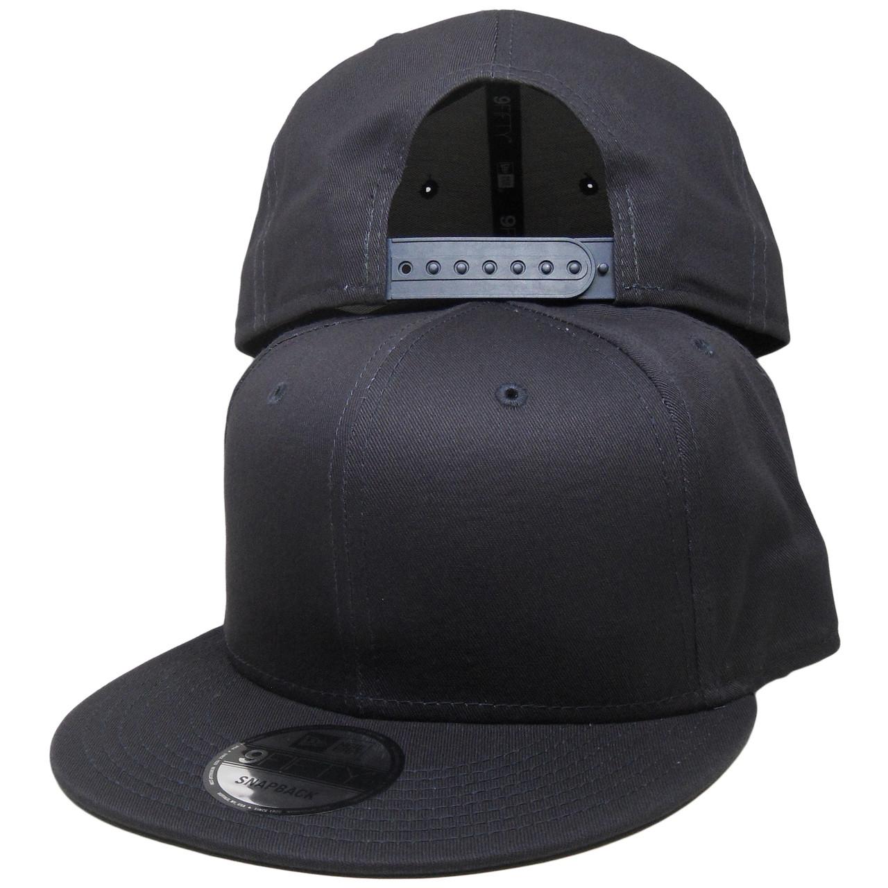 745c5ca81 Plain Blank New Era 9Fifty Snapback Hat - All Navy Blue
