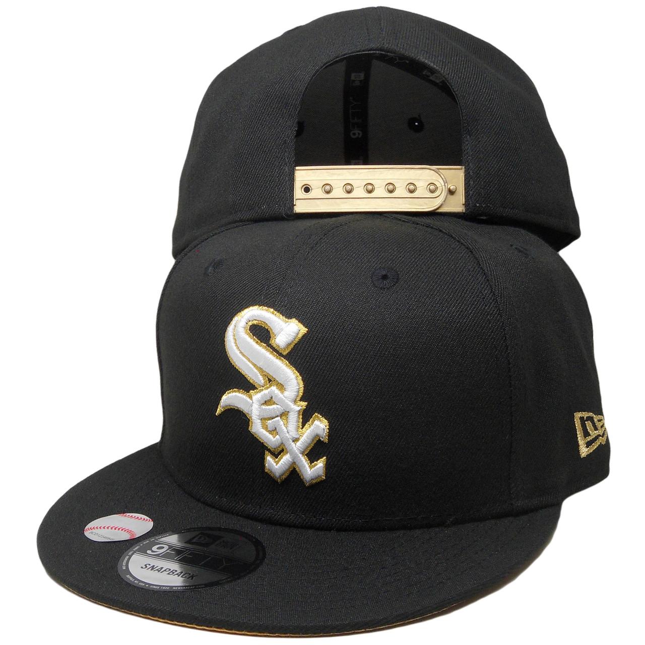 32337735 Chicago White Sox New Era Tribute Flip 9Fifty Snapback - Black, White, Gold  - ECapsUnlimited.com