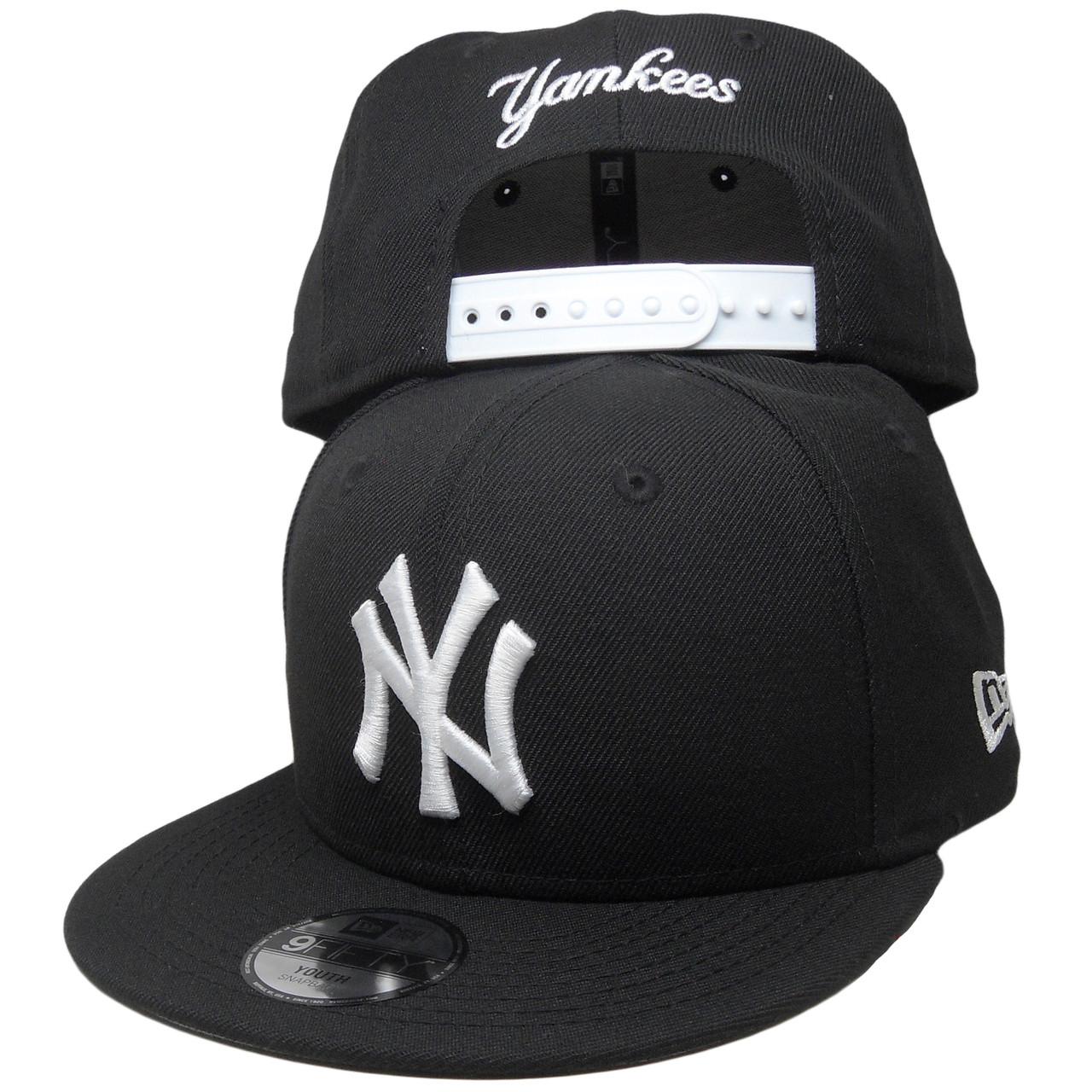 size 40 b8375 cf3db New York Yankees New Era Custom KIDS 9Fifty Snapback - Black, White -  ECapsUnlimited.com