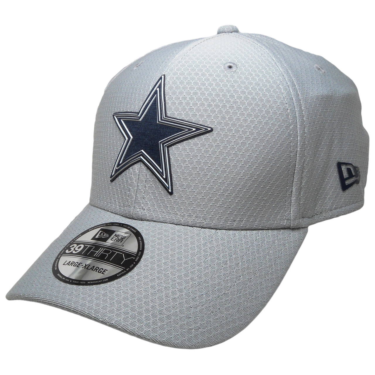 promo code 99675 26f79 Dallas Cowboys New Era official 2018 Training 3930 Flexfit Hat - Gray, Navy,  White - ECapsUnlimited.com