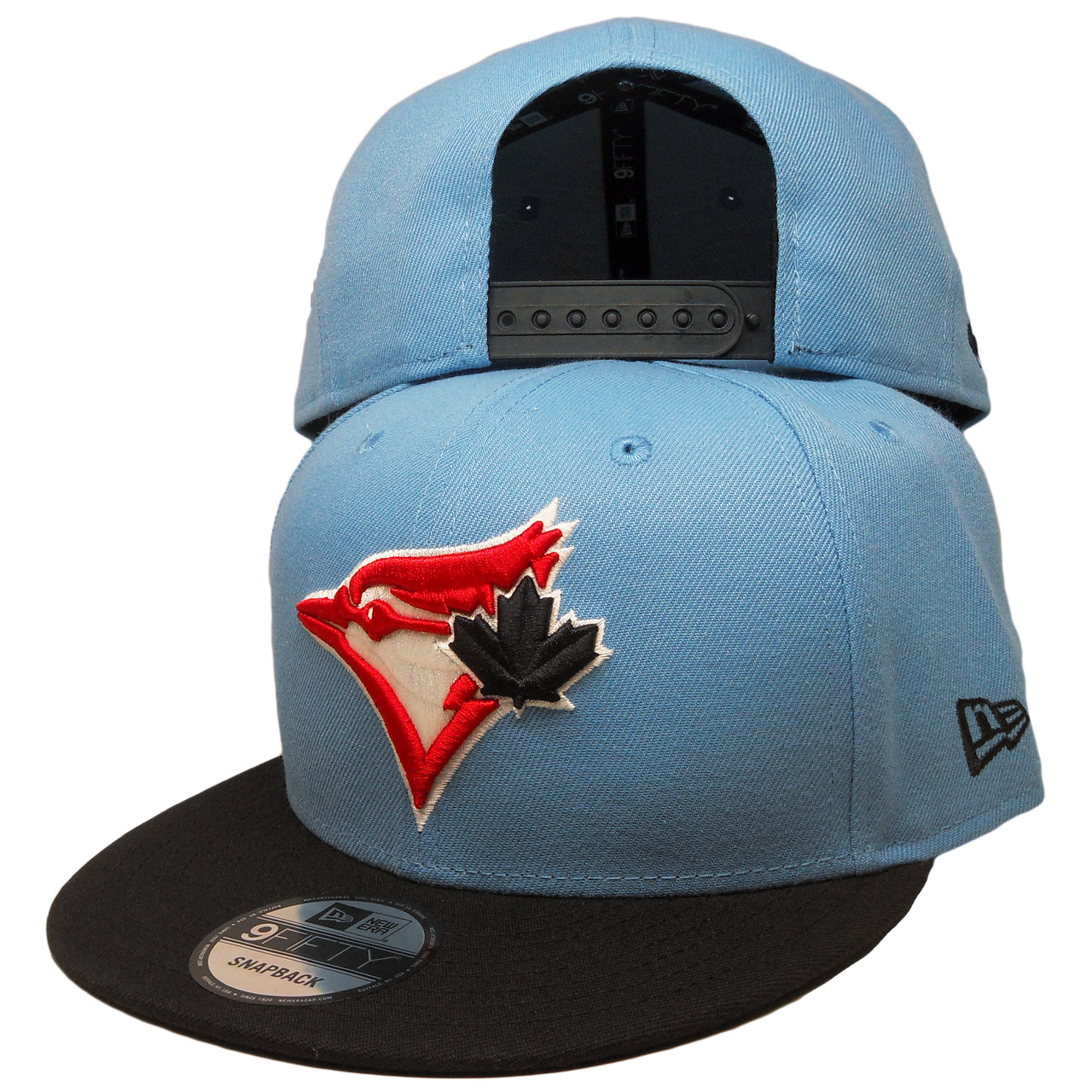 b68eb422 Toronto Blue Jays New Era Custom 9Fifty Snapback - Sky Blue, Black, Red -  ECapsUnlimited.com