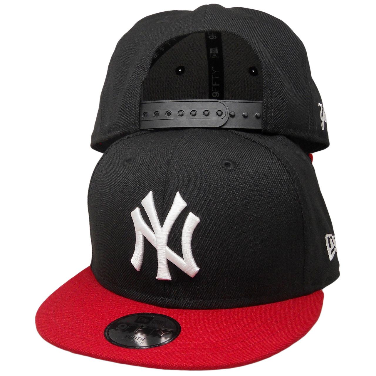 e97c5fa13 New York Yankees New Era Custom KIDS 9Fifty Snapback - Black, Red, White -  ECapsUnlimited.com
