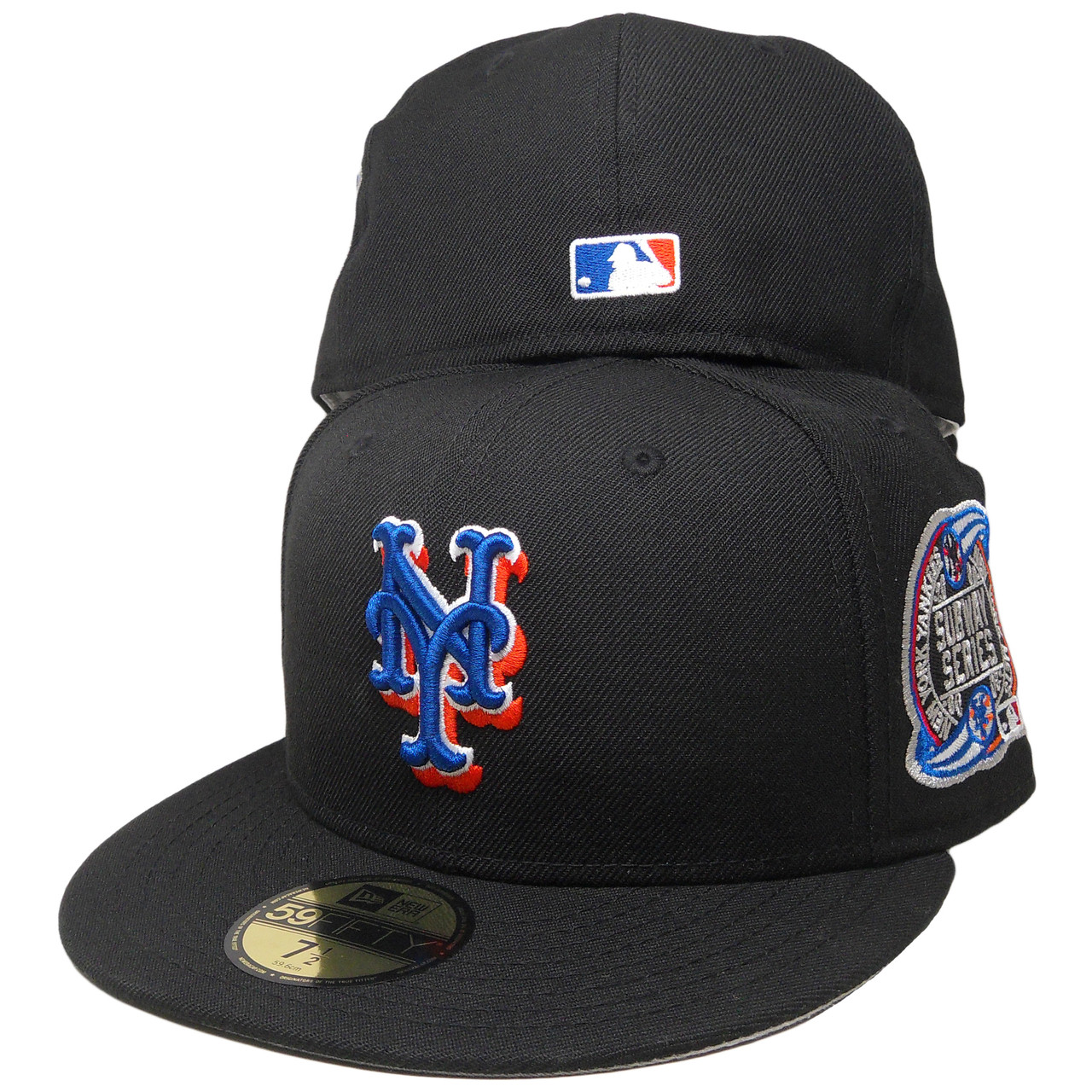 New Era Black Royal Blue New York Mets 2000 Subway Series Side Patch Fitted hat