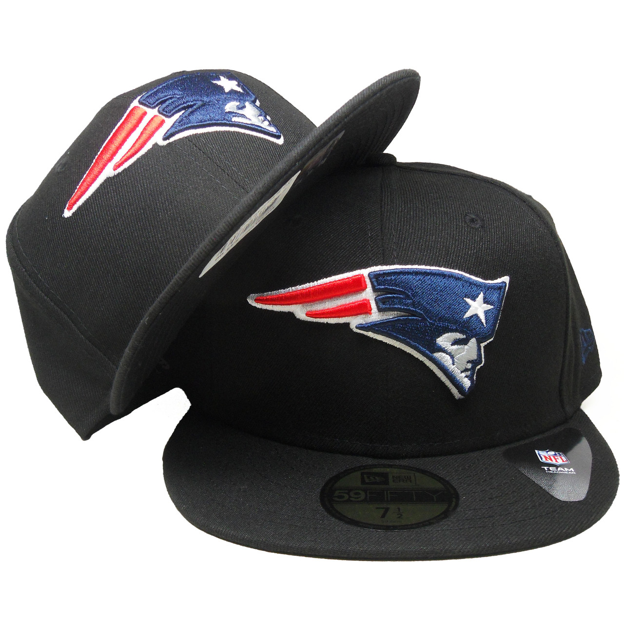 1a472446e New England Patriots New Era 59Fifty Fitted Hat - Black, Navy, Red, White