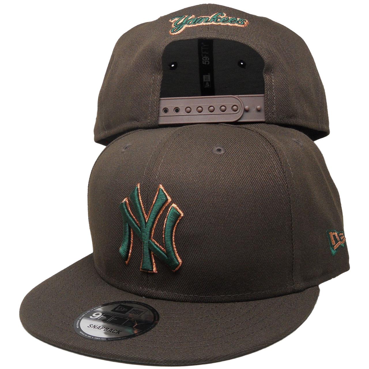2b085c45 New York Yankees New Era Custom 9Fifty Snapback - Brown, Green, Copper -  ECapsUnlimited.com