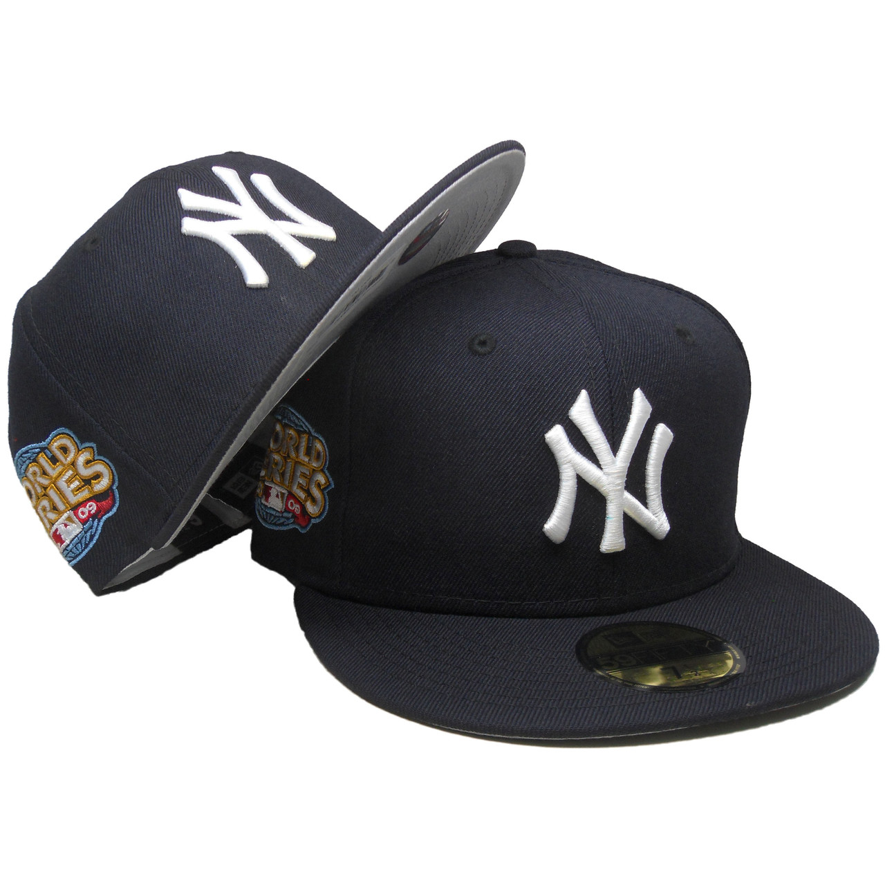 check out df11c 24a3d New York Yankees New Era Custom 59Fifty Fitted Hat - Navy, White, Gray