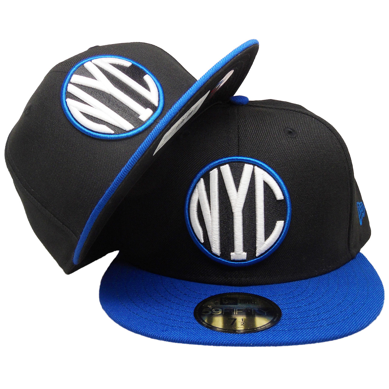 buy popular c241f 4b349 New York City New Era Custom 59Fifty Fitted Hat - Black, Royal, White -  ECapsUnlimited.com