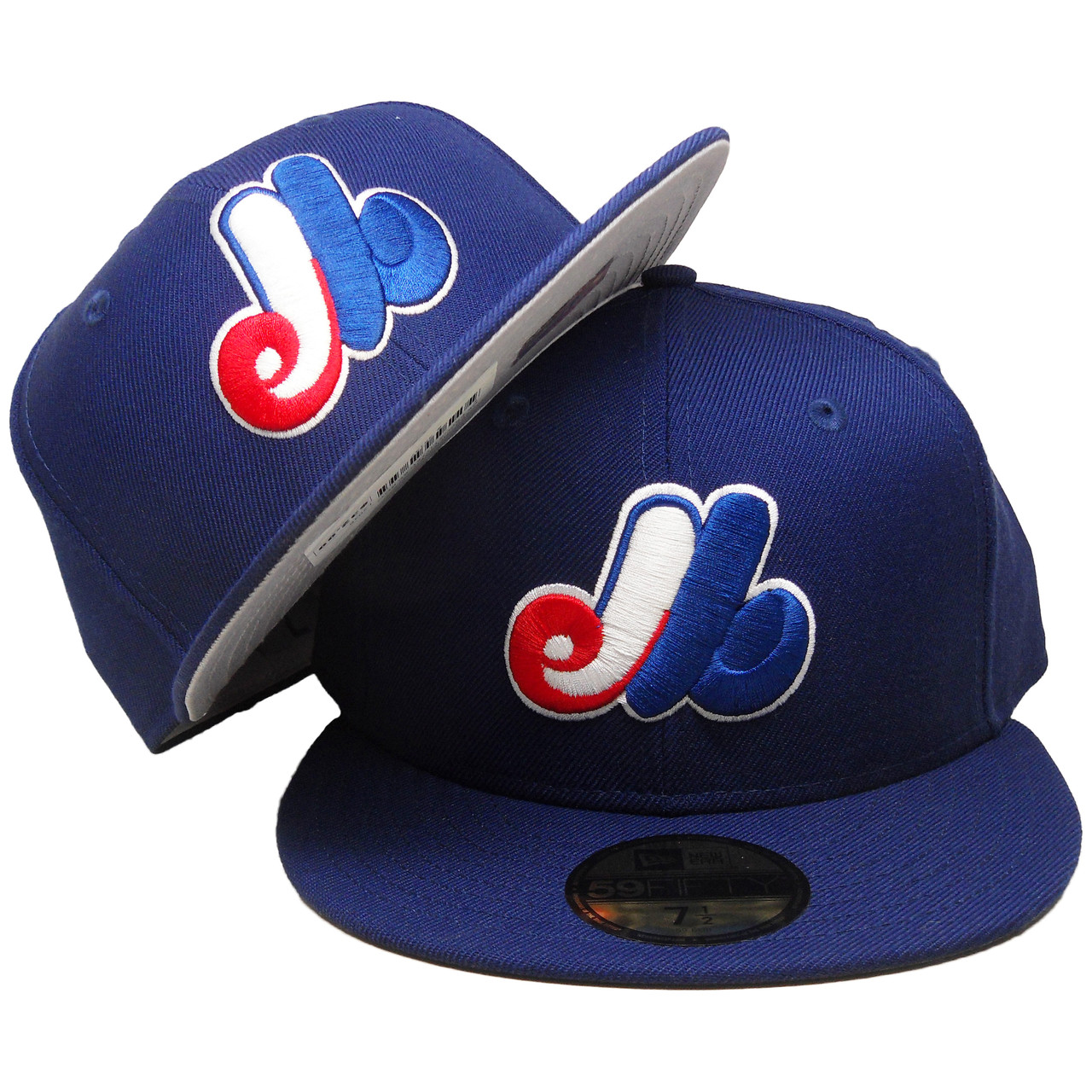 8a5ac550d Montreal Expos New Era Custom 59Fifty Fitted Hat - Dark Royal, White, Red