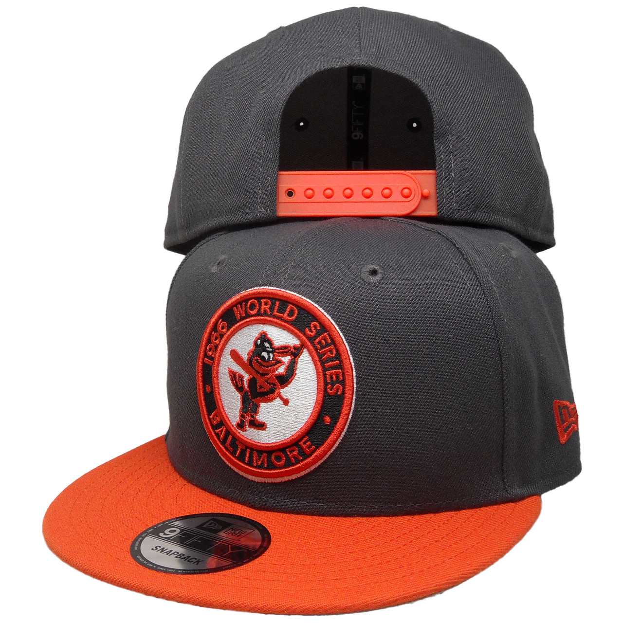 new arrival fbe97 d1710 Baltimore Orioles 1966 WS New Era Custom 9Fifty Snapback - Charcoal,  Orange, White - ECapsUnlimited.com