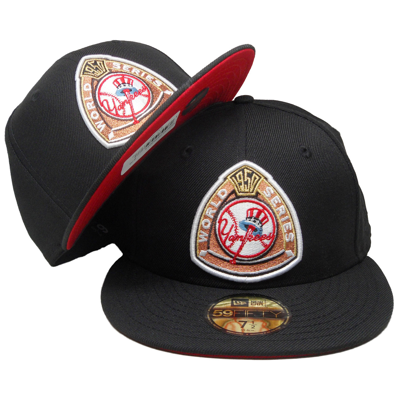 66d322569 New York Yankees New Era Custom 50 WS 59Fifty Fitted - Black, Copper, Red,  White