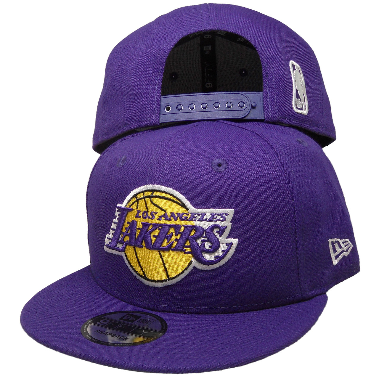 separation shoes 920cc 0f205 Los Angeles Lakers New Era Basic 9Fifty Snapback -Purple, Yellow, White -  ECapsUnlimited.com