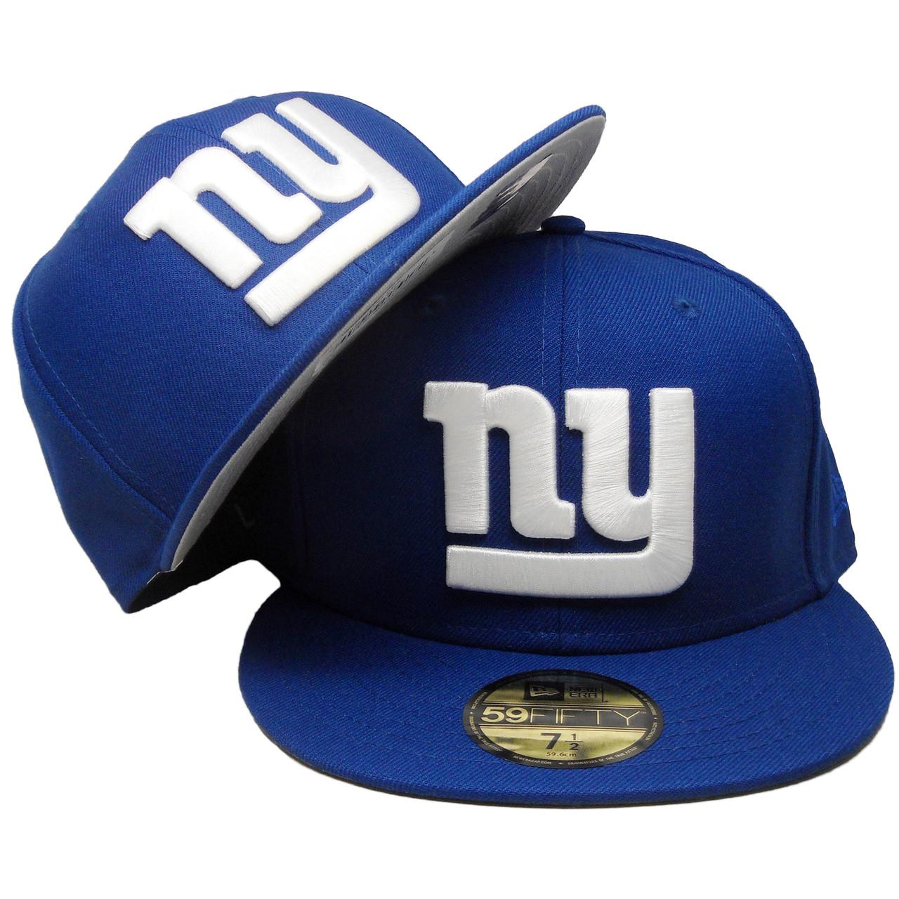 super popular 0c0ed f7e72 New York Giants New Era Custom New Era 59Fifty Fitted Hat - Royal, White -  ECapsUnlimited.com