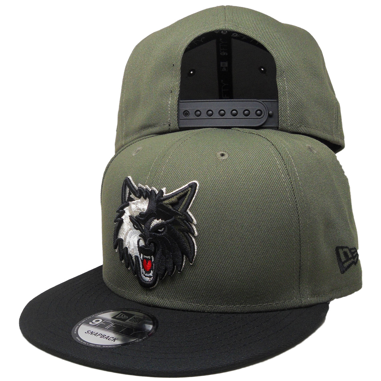 4f6cee8cbf93af Minnesota Timberwolves New Era Custom 9Fifty Snapback - Olive, Black,  Silver - ECapsUnlimited.com