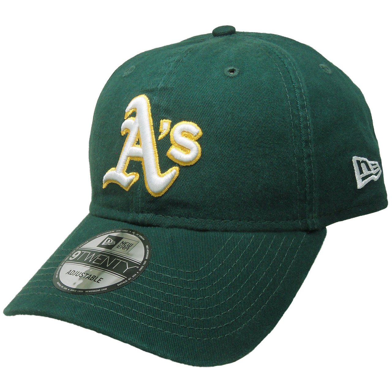 6c74d93e Oakland Athletics New Era 9Twenty Adjustable Hat - Green, White, Yellow