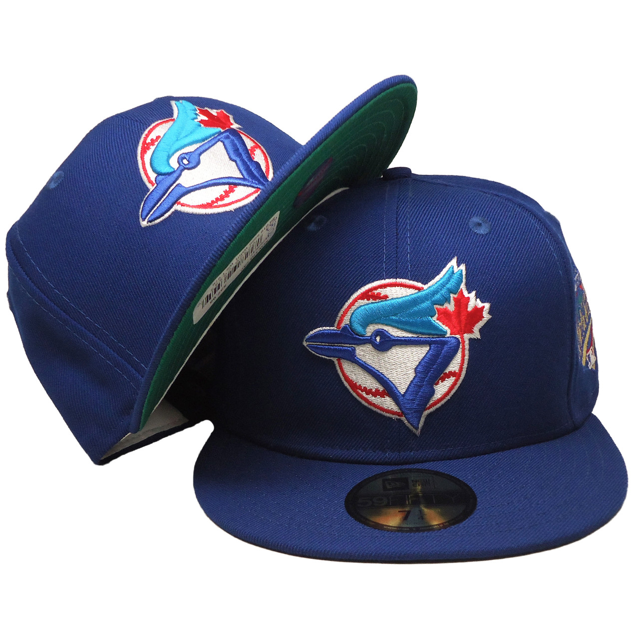 b01a821f7a3f84 Toronto Blue Jays 93 WS New Era 59Fifty Fitted Hat - Blue, Red, White -  ECapsUnlimited.com