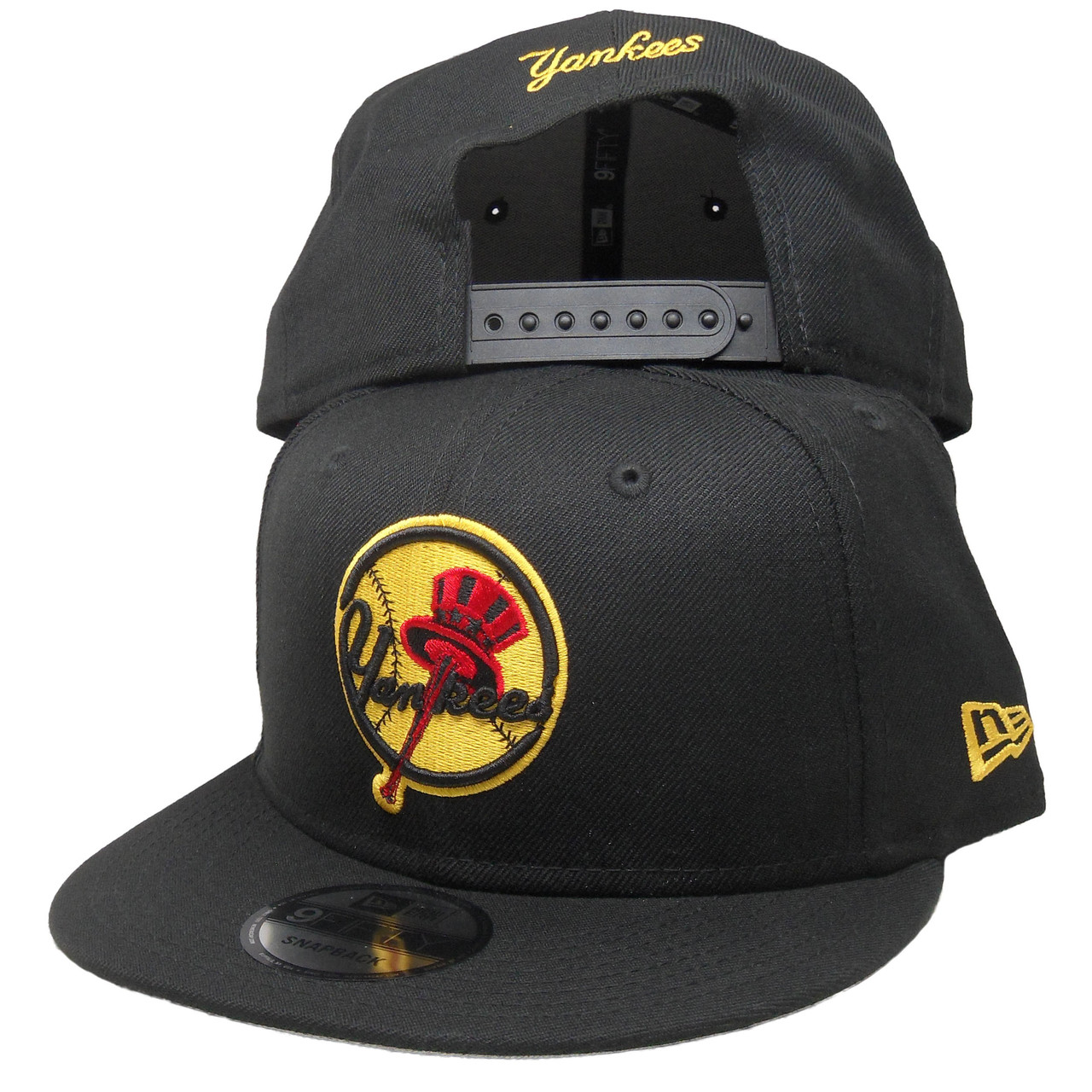 d4bc7ca8 New York Yankees New Era Custom 9Fifty Snapback - Black, Red, Yellow -  ECapsUnlimited.com