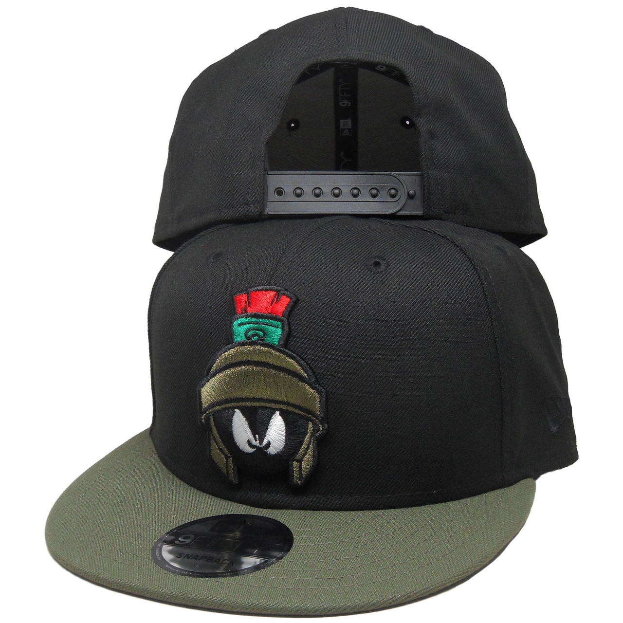 309bdb1264f4c4 Marvin the Martian New Era Custom 9Fifty Snapback - Black, Olive, Red -  ECapsUnlimited.com