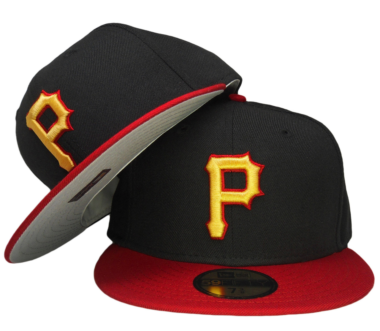 db97351d7 Pittsburgh Pirates New Era 2008 Onfield Fitted Hat - Black, Red, Yellow