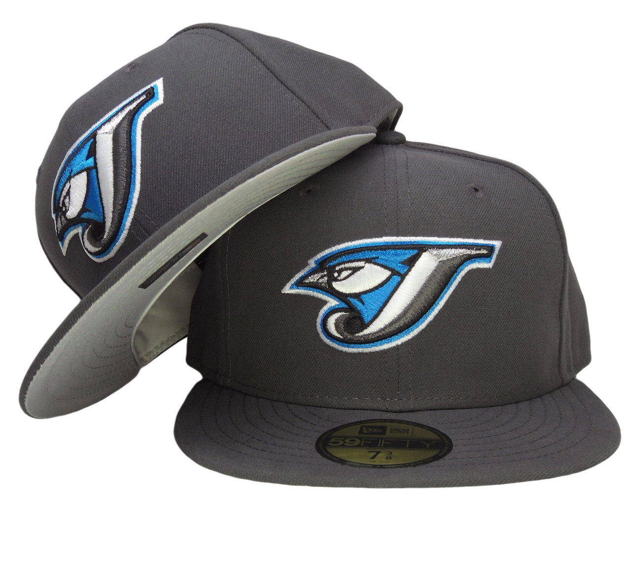 100% authentic cf1cd 26a0f Toronto Blue Jays New Era Gray Bottom Fitted Hat - Graphite Gray, Marine  Blue