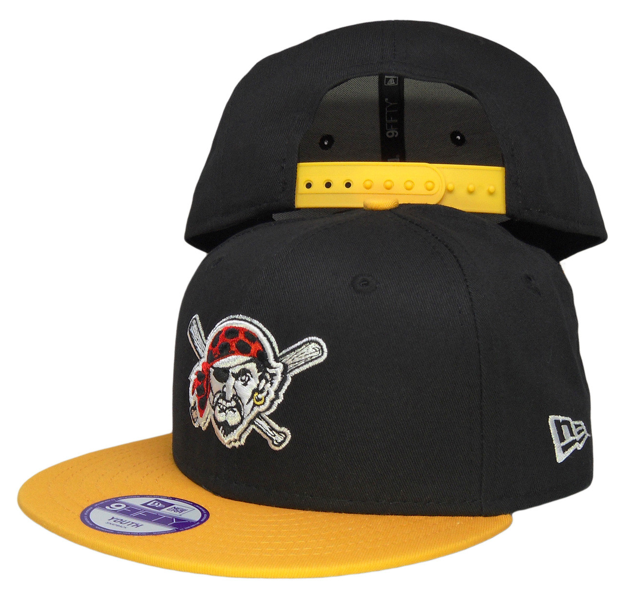 another chance eef7b 33545 Pittsburgh Pirate New Era Kids 2Tone Snapback Hat - Black, Yellow, White,  Red - ECapsUnlimited.com