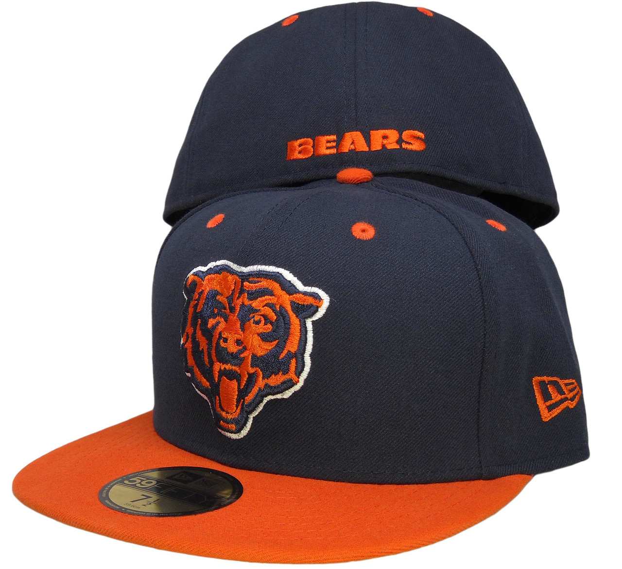 98b9ae93 Chicago Bears New Era 59Fifty 2Tone Fitted Hat - Navy, Orange, White