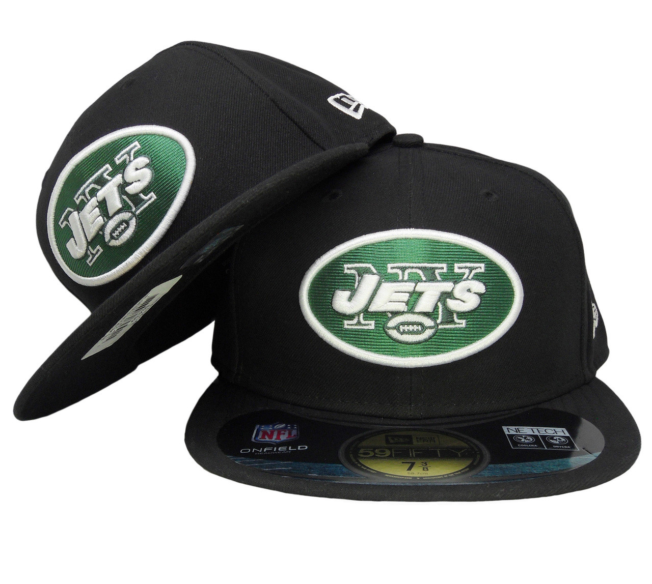 f445d158eae9bd New York Jets New Era 59Fifty Onfield Fitted Hat - Black, Hunter Green -  ECapsUnlimited.com