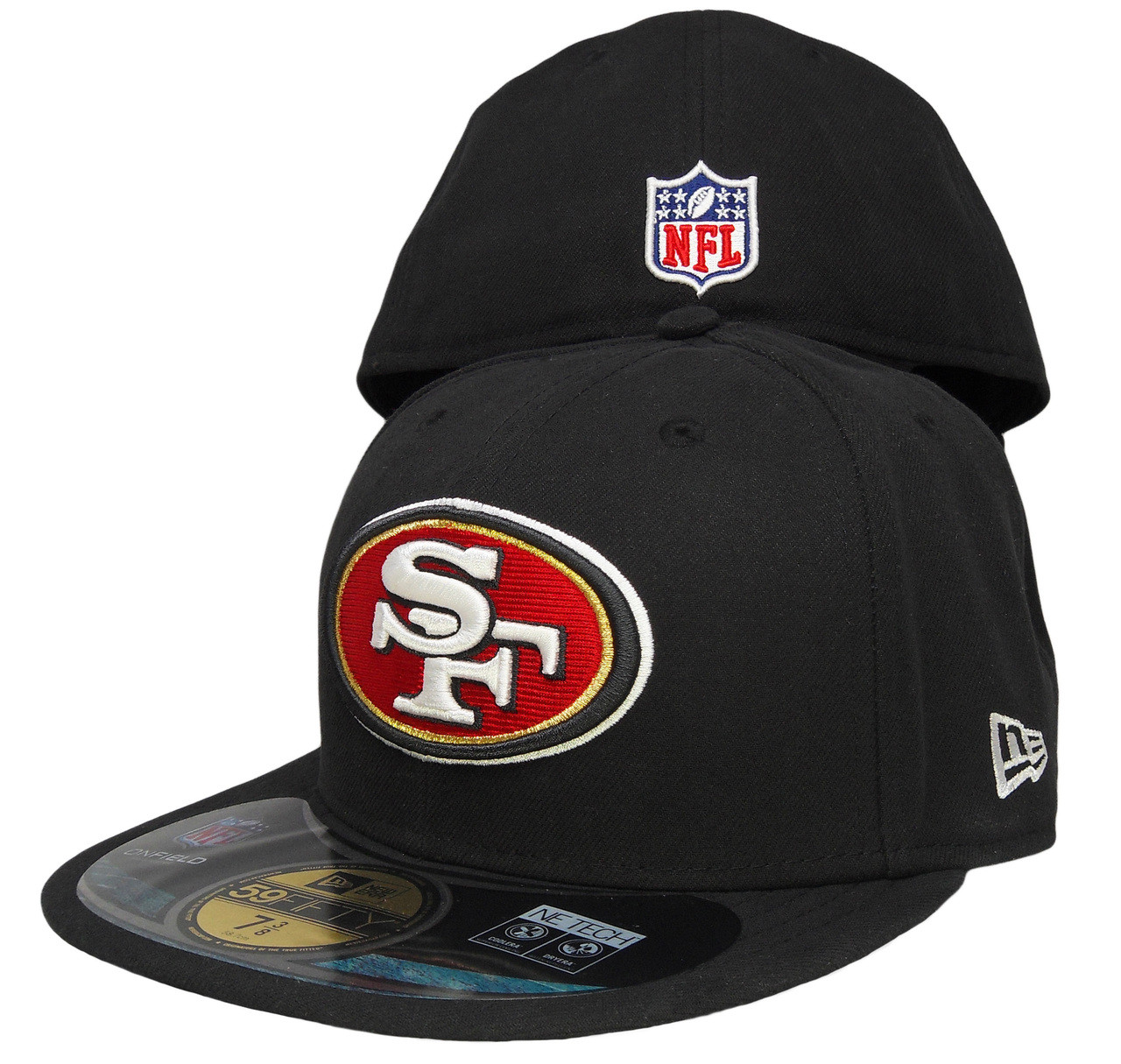 sports shoes 544d6 2cd28 San Francisco 49ers New Era 59Fifty Onfield Fitted Hat - Black, Red, Gold -  ECapsUnlimited.com