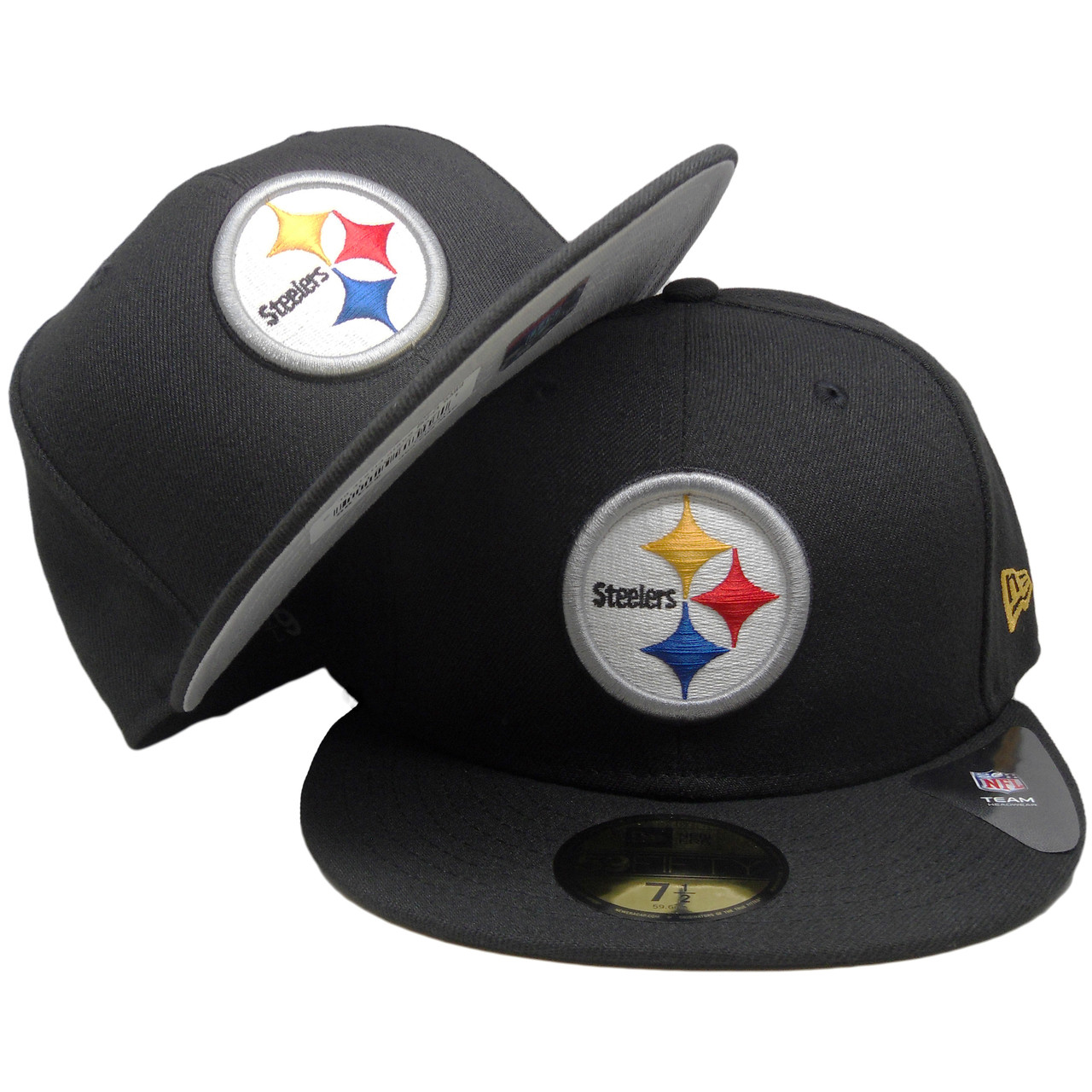 new style bc5cb 86313 Pittsburgh Steelers New Era Classic Fitted Hat - Black, Yellow, Red, Blue -  ECapsUnlimited.com