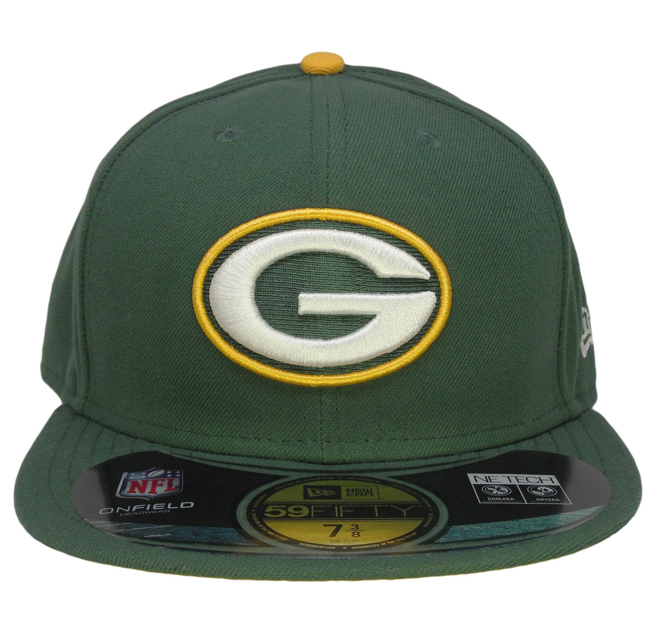 4a3b5b25 Green Bay Packers New Era Onfield Fitted Hat - Forest Green, Yellow, White