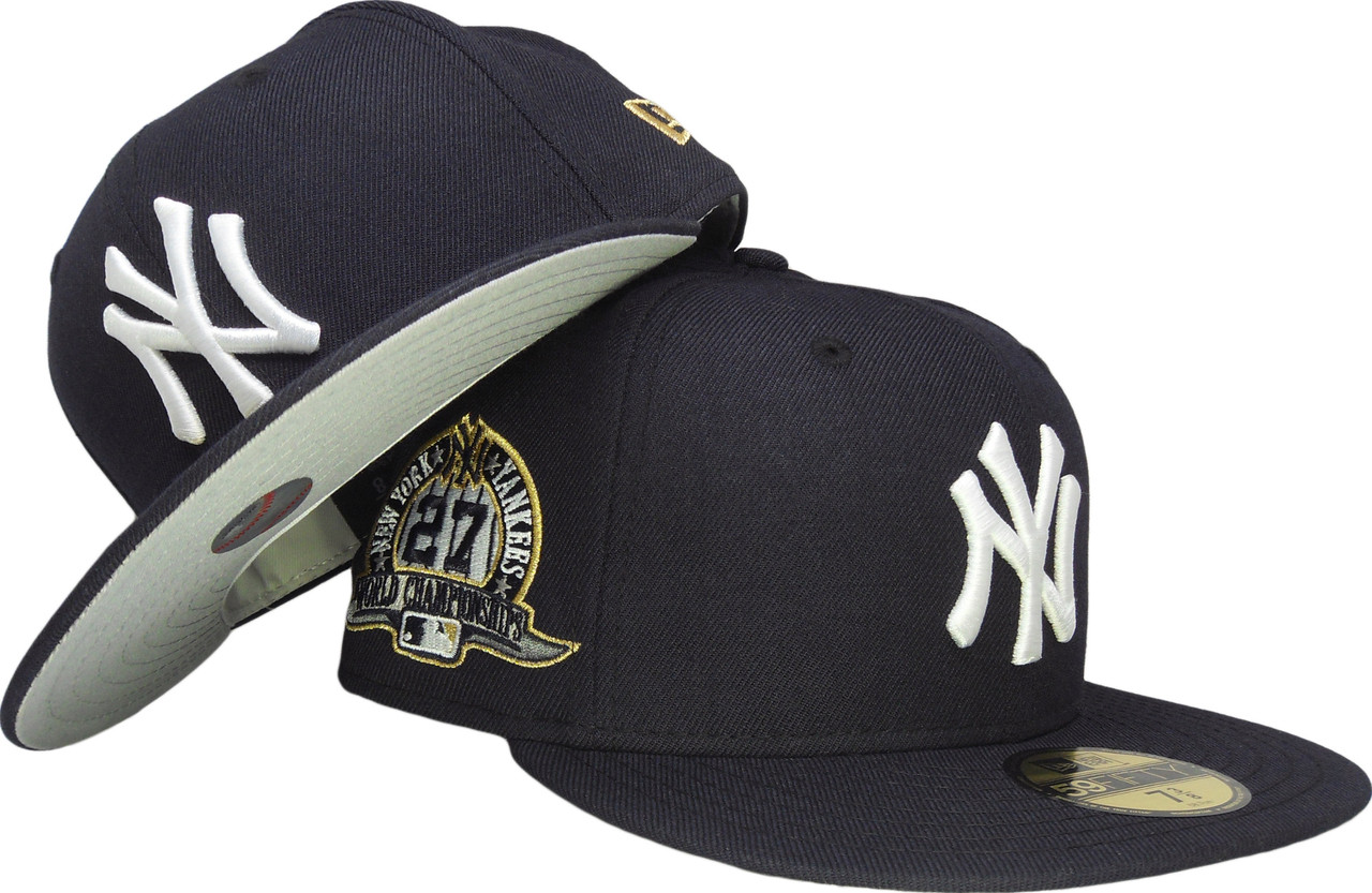 7193023d2 New York Yankees New Era 27 WS Gray Bottom Fitted Hat - Navy Blue, Gold