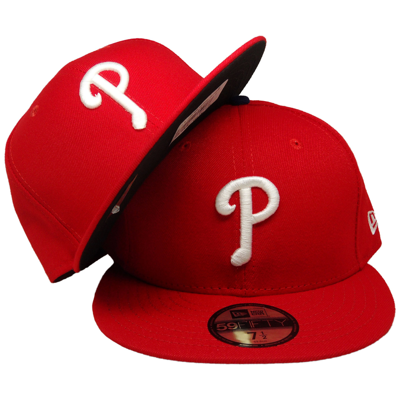 sneakers for cheap d0789 cbe66 Philadelphia Phillies New Era Home Onfield Fitted Hat - Red, White, Light  Royal