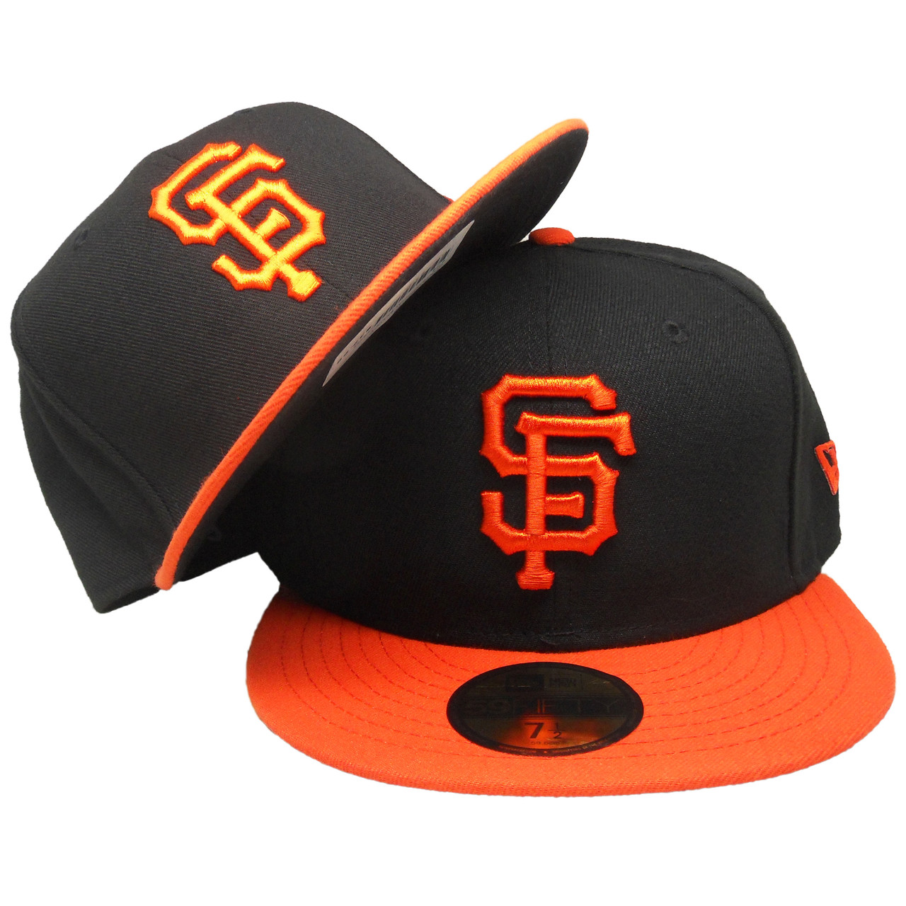 9db52de7ff0e67 San Francisco Giants New Era 59Fifty Alternate Fitted Hat - Black, Orange -  ECapsUnlimited.com