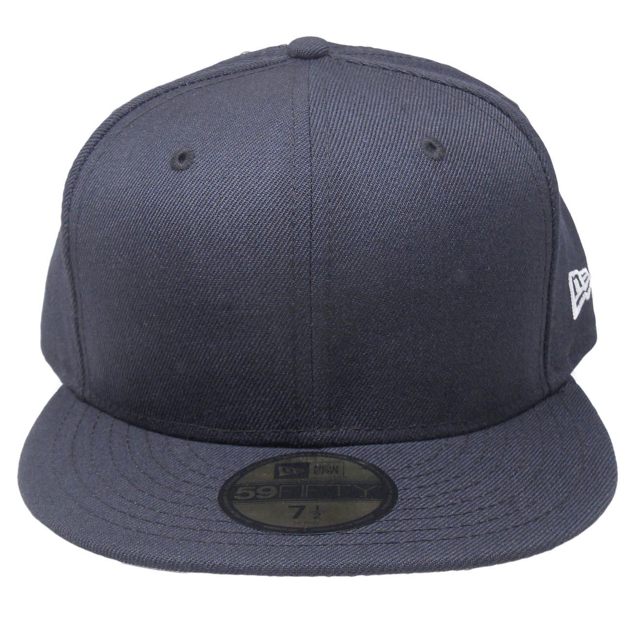 f9cb69ea New Era 59Fifty Plain Blank Fitted Hat - Navy
